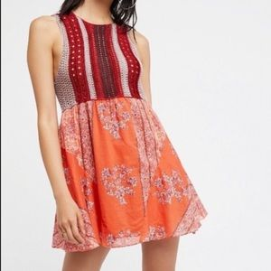 Free People crochet boho mini dress